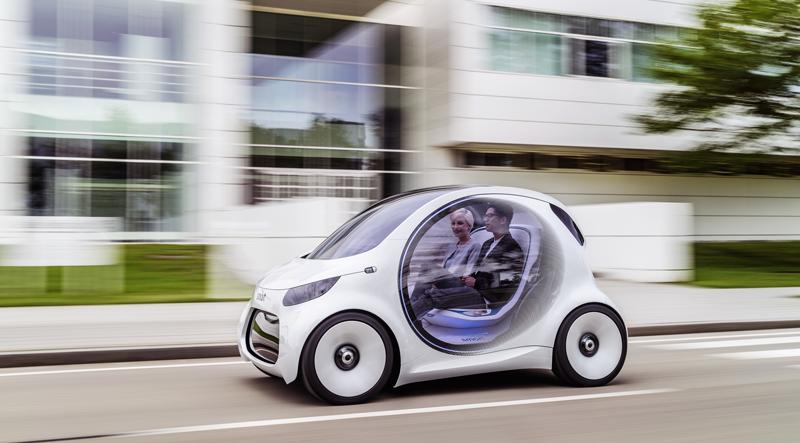 El smart vision EQ fortwo ofrece un nuevo concepto de carsharing autónomo, eléctrico y conectado.