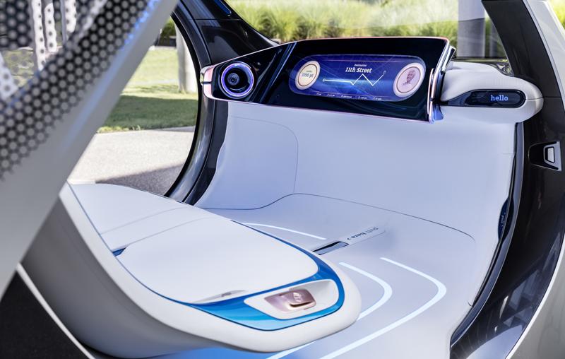 El prototipo de Smart es un vehículo sin volante ni pedales, completamente autónomo.