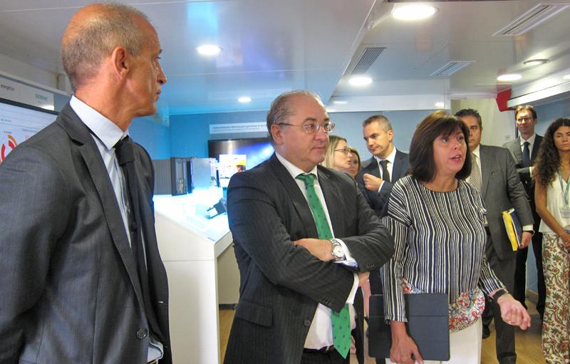 Rosa García, presidenta y CEO de Siemens España, durante la presentación de la muestra itinerante de tecnologías para la smart city.