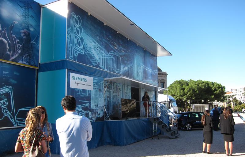 La primera parada del Smart City Hub fue Madrid, concretamente la plaza de Colón.