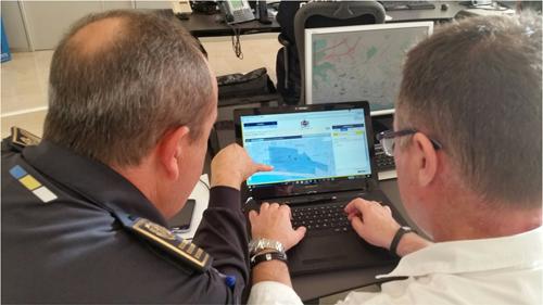 Figura 1. La gestión de las notificaciones se realiza desde un centro de coordinación de emergencias.