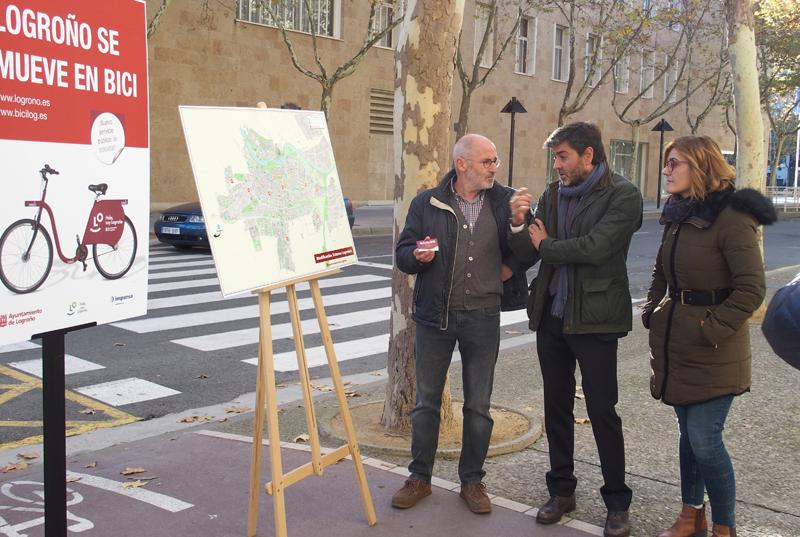 El nuevo sistema de préstamo de bicicletas de Logroño pasará de 12 estaciones y 190 bicicletas a 20 estaciones y una flota de 300 bicicletas.