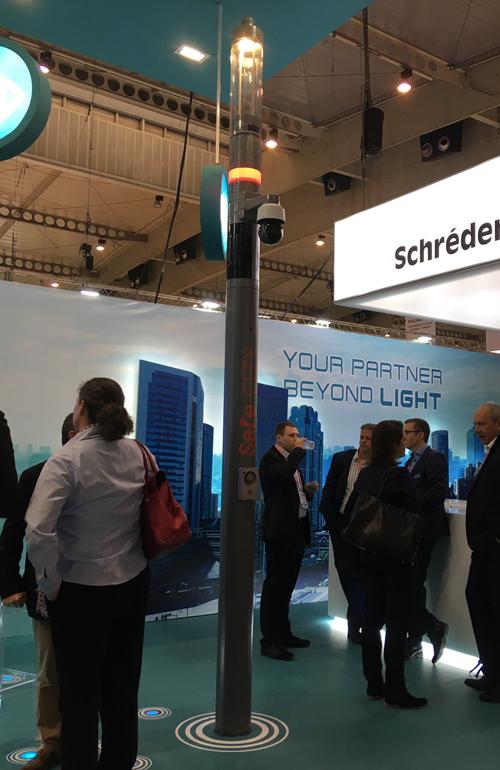Shuffle Site es una luminaria con módulos que proporcionan conectivadad 4G desarrollada por Huawei y Schréder.