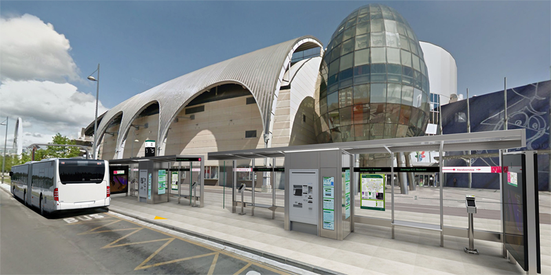 Aspecto que tendrá la línea 2 de transporte público de Vitoria-Gasteiz tras la remodelación y la incorporación del Bus Eléctrico Inteligente, un proyecto cuya licitación se llevará a cabo a principios de 2018.
