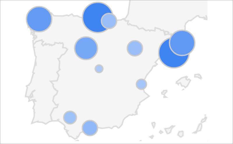 Figura 1. El interés en el concepto de Smart City en España en el periodo 2010-2016. (Volumen de búsquedas de un término en relación con el número de búsquedas totales realizadas en Google a lo largo del tiempo. Fuente: Afi a partir de Google Trends)