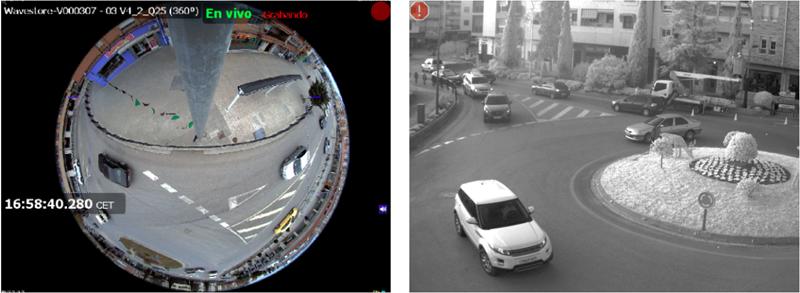 Figura 3. Imágenes capturadas por las cámaras IP de una de las ubicaciones de televigilancia.