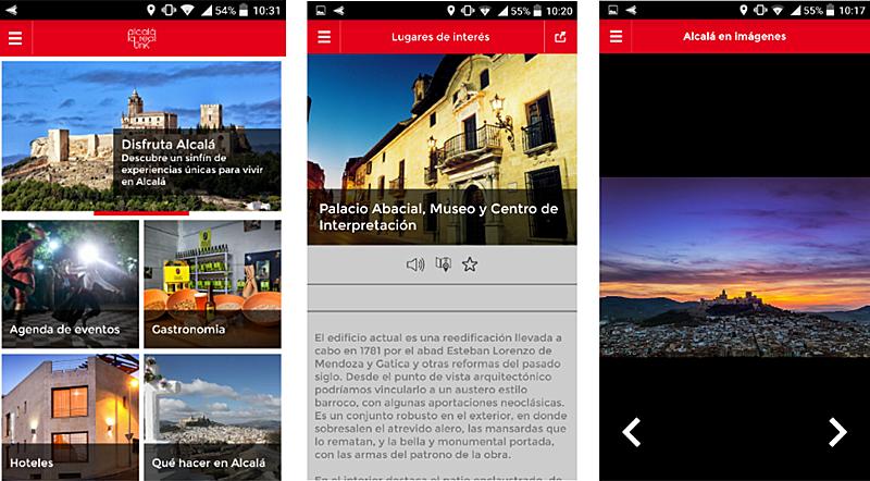 Figura 4. Propuesta (borrador) realizada para la aplicación móvil turística de Alcalá la Real.