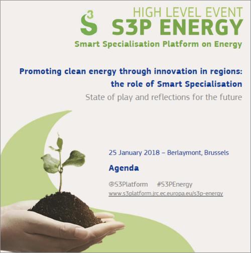"""Cartel del encuentro de alto nivel en Bruselas en el que la Agencia Andaluza de la Energía presentó """"Smart Campus"""", un proyecto para el desarrollo de un prototipo de campus inteligente."""