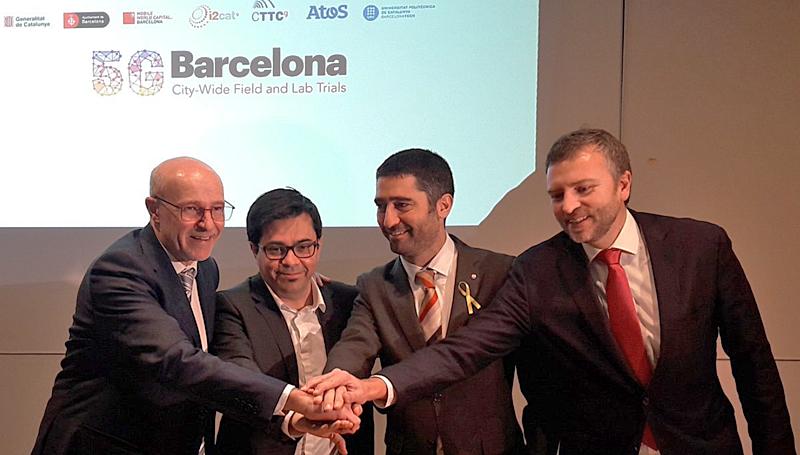 Presentación de la iniciativa 5GBarcelona en la que participan instituciones públicas y privadas para hacer de Barcelona uno de los centros de innovación en tecnología 5G.