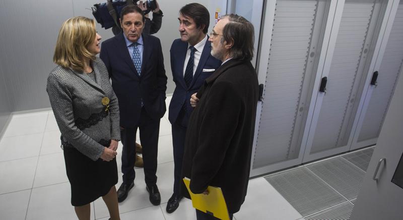 Varios consejeros de la Junta de Castilla y León han visitado el Centro de Proceso de Datos (CPD) de Valladolid donde se centraliza toda la tecnología de Administración Electrónica.