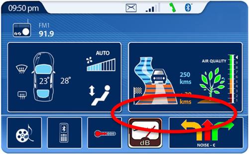 Figura 3. Ejemplo de la información de ruido mostrada a un conductor mediante una APP.