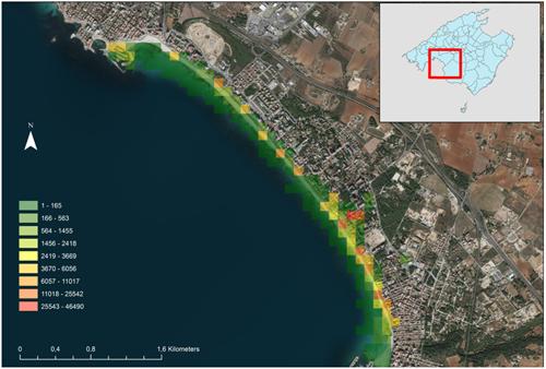 Figura 3. Mapa de uso del territorio por parte de dispositivos.
