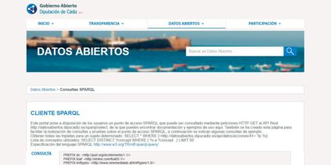 Nuevo Portal de Datos Abiertos de la Diputación provincial de Cádiz