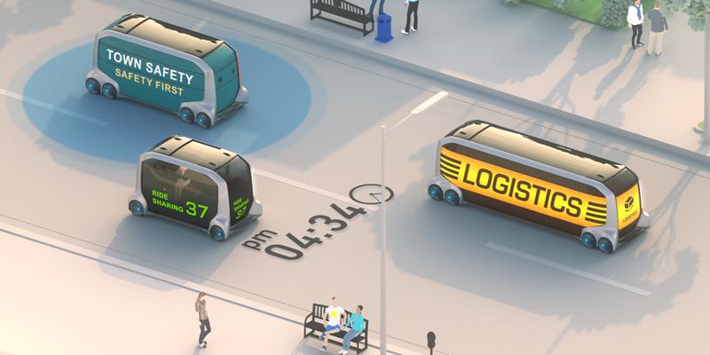 e-Palett, además de ser un vehículo autónomo, es escalable y personalizable para cumplir función de transporte multimodal según las necesidades de las empresas que lo adquieran.