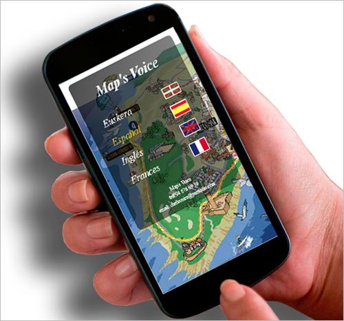 La aplicación Maps Voice facilita la accesibilidad a las personas invidentes, entre otras, interpretando los planos a través de voz.
