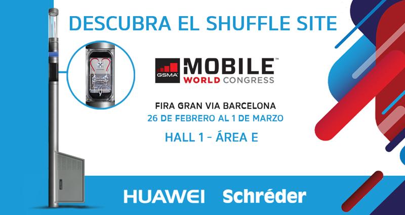La plataforma Shuffle Site ha sido desarrollada por Huawei y Schréder y estará disponible en el Mobile World Congress de Barcelona.
