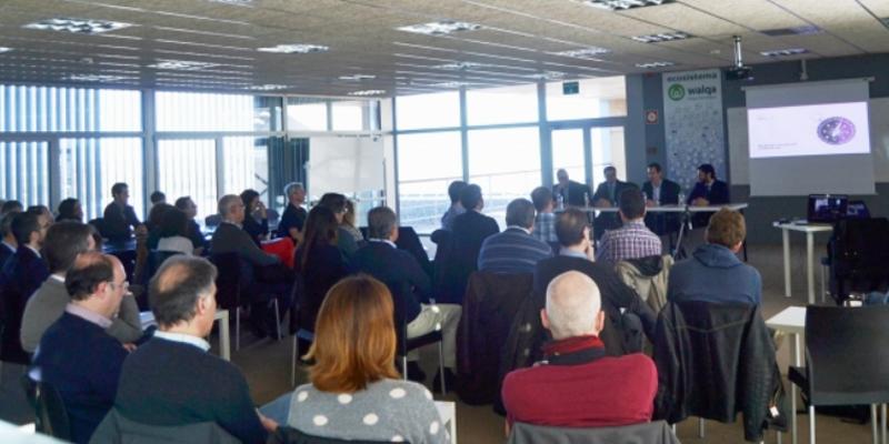 Desayuno informativo sobre blockchain en el que el Gobierno de Aragón dio a conocer un proyecto por el que se utilizará esta tecnología para el registro de ofertas en algunos procesos de contratación pública.