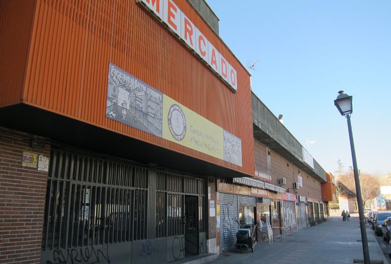 Edificio del mercado del barrio de Orcasur, en el distrito de Usera, uno de los espacios propuesto para su regeneración.
