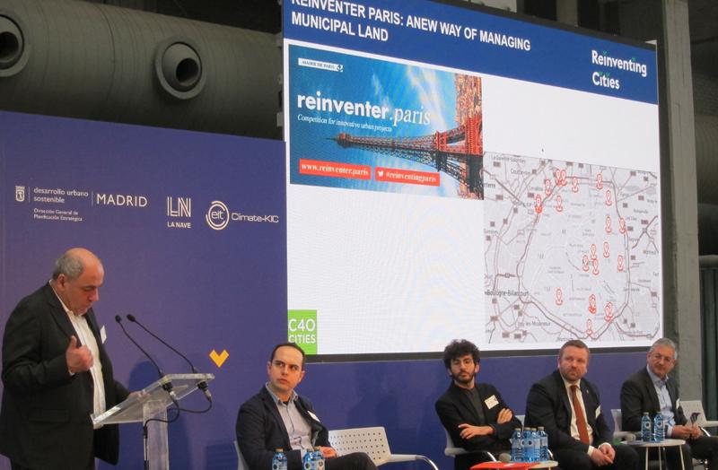Jean-Louis Missika, concejal Urbanismo del Ayuntamiento de París, explicó junto a representantes de Milán y Oslo, su experiencia con Reinventing Cities.