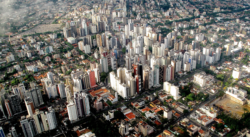 Vista aérea de la ciudad brasileña de Curitiba. Foto: Francisco Anzola