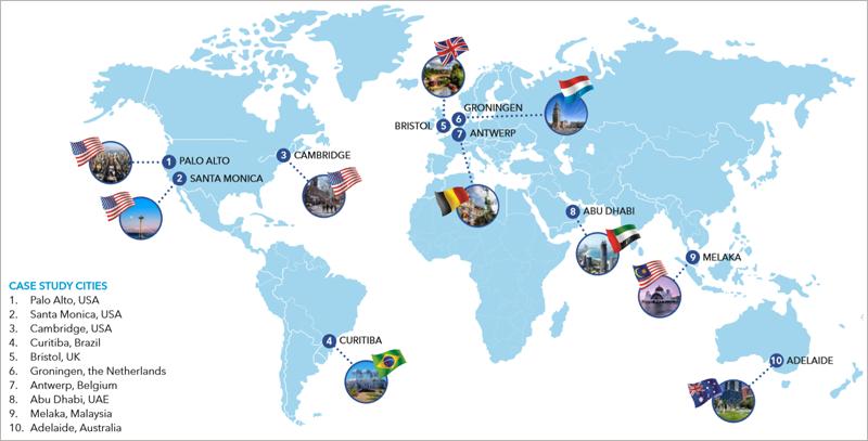 Diez ciudades de tamaño medio pioneras en el establecimiento de sus propios caminos hacia el cambio de modelo energético.