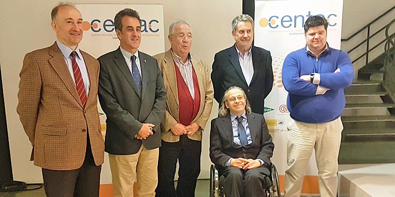 Representantes del Ayuntamiento de Santillana del Mar, Centac y otras organizaciones que participan en el proyecto del Espacio Integrado Inteligente para hacer más accesible a todas las personas la ciudad.