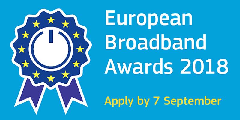 El plazo para presentar candidaturas a los 'European Broadband Awards 2018' estará abierto hasta el próximo siete de septiembre.