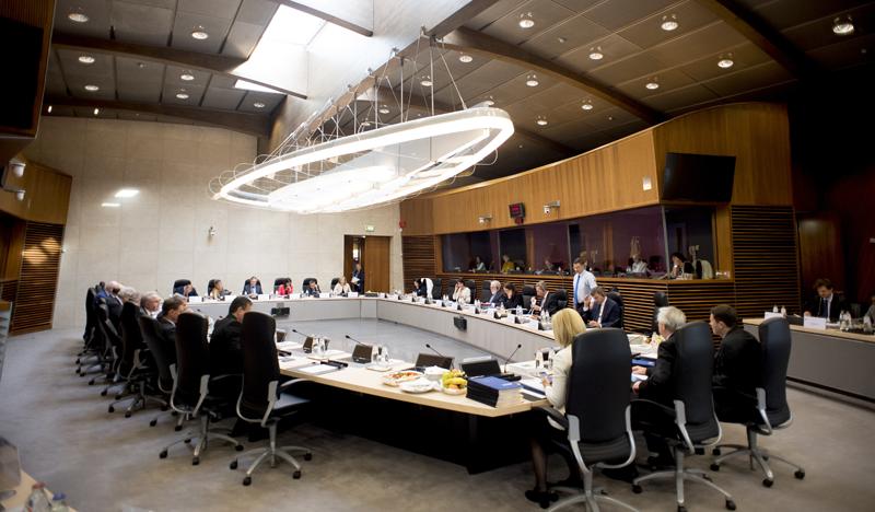 Reunión de los miembros de la Comisión Europea el pasado 25 de abril, tras la que se anunciaron las medidas que propone para el desarrollo de la IA.