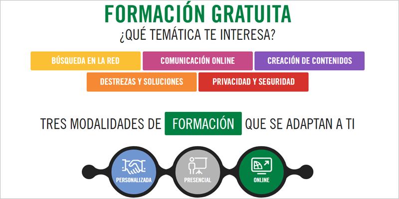 El programa Andalucía Compromiso Digital lleva diez años ofreciendo formación gratuita en competencias digitales para la ciudadanía.