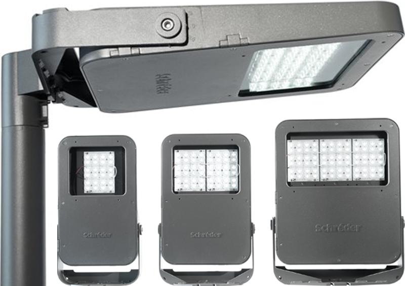 La gama de luminarias OMNIflood incorpora tecnología LED y es compatible con los sistemas de telegestión de de Schréder para interiores, exteriores y túneles.