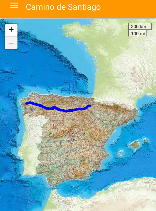 La App móvil 'Camino de Santiago' será accesible para los peregrinos con alguna discapacidad que inicien el camino.