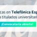Telefónica y Fundación SEPI ofertan 100 becas para estudiantes y titulados en tecnologías e ingeniería