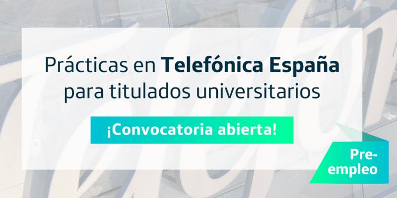 La convocatoria de becas de Telefónica y Fundación SEPI para estudiantes o recién licenciados estará abierta hasta el 20 de mayo.
