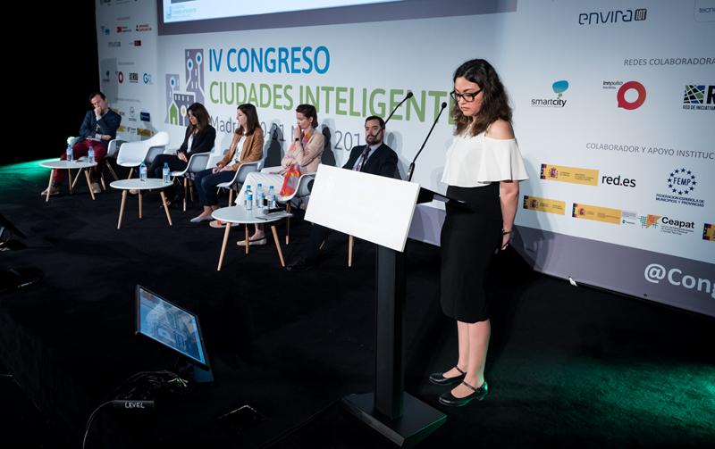Adriana Rangel, ingeniera de soluciones para la Administración Pública de Esri España.