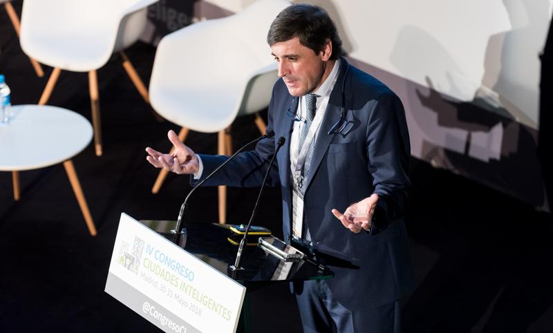 Enrique Martínez Marín, coordinador del Plan Nacional de Territorios Inteligentes ofreció la conferencia magistral del Congreso.