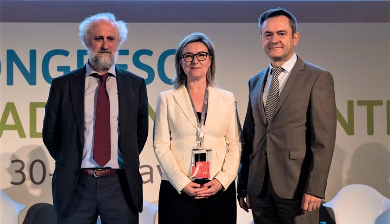 Luis Cueto, coordinador de Alcaldía de Madrid, Inés Leal, directora del Congreso Ciudades Inteligentes, y José Manuel Leceta, director general de Red.es.