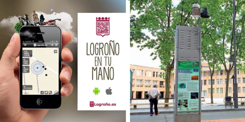 """Figura 3. App """"Logroño.es"""" y Cuadro de Mando de Alumbrado Público Inteligente GREEN TIC"""