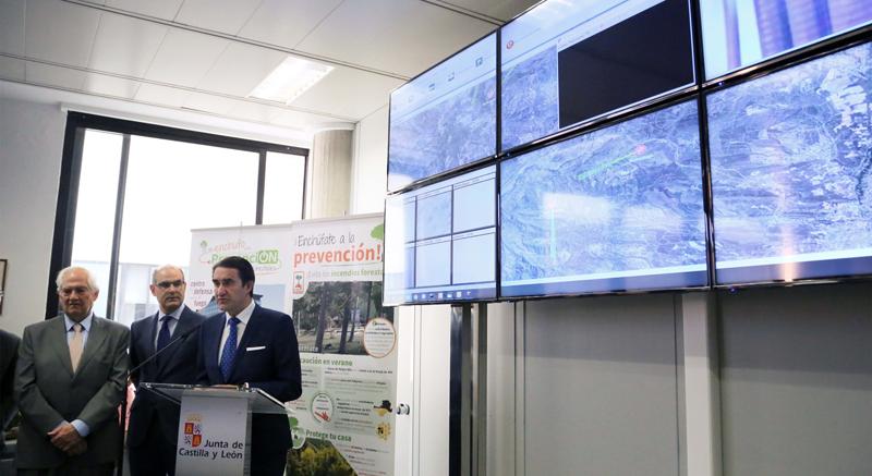 Presentación oficial del sistema de prevención y lucha contra incendios instalado en la comarca de El Bierzo basado en videoviligilancia, georreferenciación y sensorización.