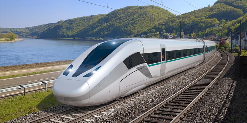 Una de las novedades en movilidad digital que Siemens llevará a la feria InnoTrans2018 será el nuevo tren de alta velocidad que consume un 30% menos de energía.