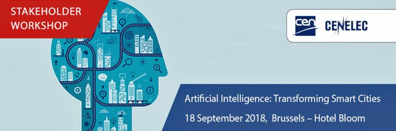 El taller sobre inteligencia artificial en la transformación de las ciudades inteligentes tendrá lugar el 18 de septiembre en Bruselas.