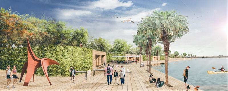 Imagen del proyecto de regeneración urbana y smart city dentro de la Estrategia DUSI de San Fernando, seleccionada para su cofinanciación con Fondos FEDER por valor de 10 millones de euros.
