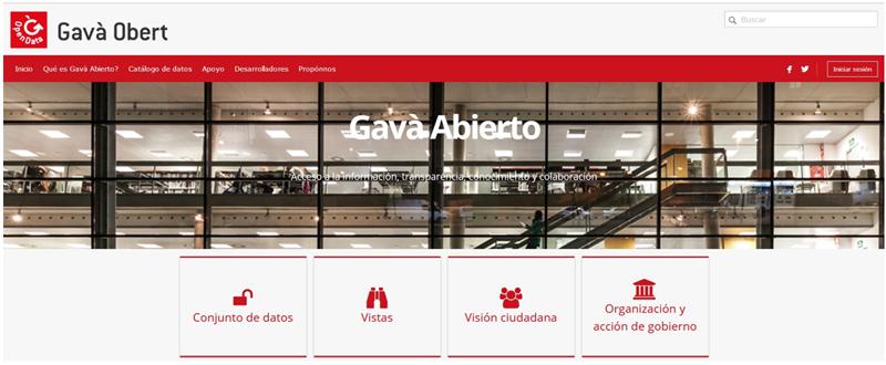 Figura 1. Portal de Open Data del Ayuntamiento de Gavà.