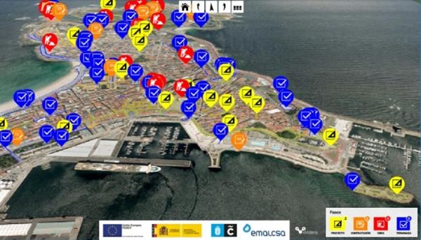 Figura 4. Apps de Proyectos y Obras del Ayuntamiento de A Coruña utilizado dentro de su plataforma Coruña Smart City.