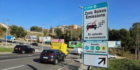 Zona de bajas emisiones del ámbito Rondas de Barcelona