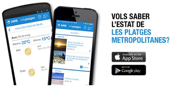 Figura 7. App Infoplayas para iOS y Android de AMB.