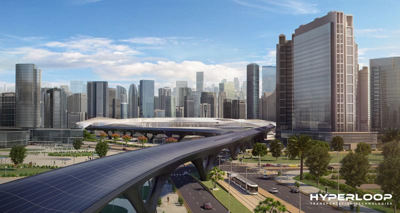 Recreación del proyecto de Hyperloop en Dubai para la Expo 2020.
