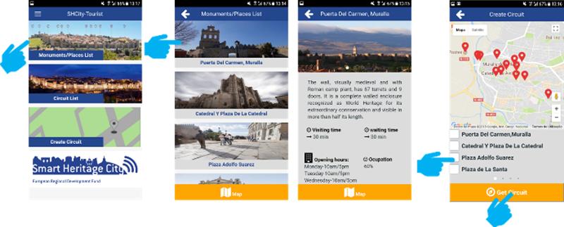 Figura 4. SHCity aplicación turismo y ciudadananía.