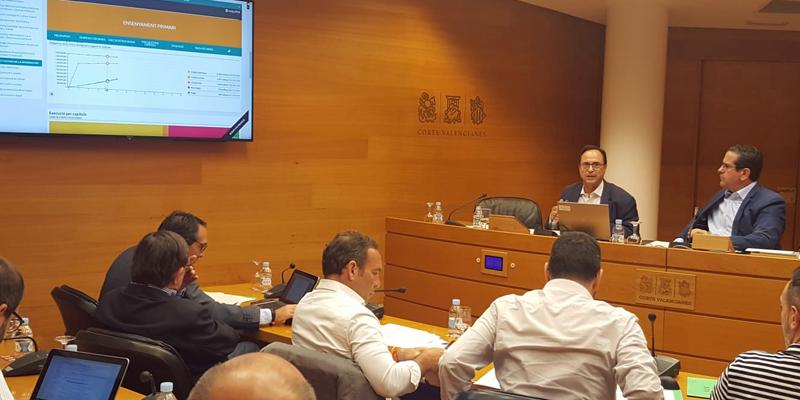 El consejero deHacienda y Modelo Económico, Vicent Soler, presentó el visor presupuestario, una herramienta para consultar cómo se ejecutan las cuentas públicas de la Generalitat Valenciana.