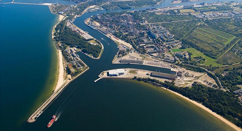 Imagen aérea del Puerto de Gdansk, en Polonia.
