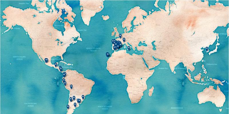 Figura 1. Mapa de las ciudades que han implementado Consul como herramienta digital de participación.